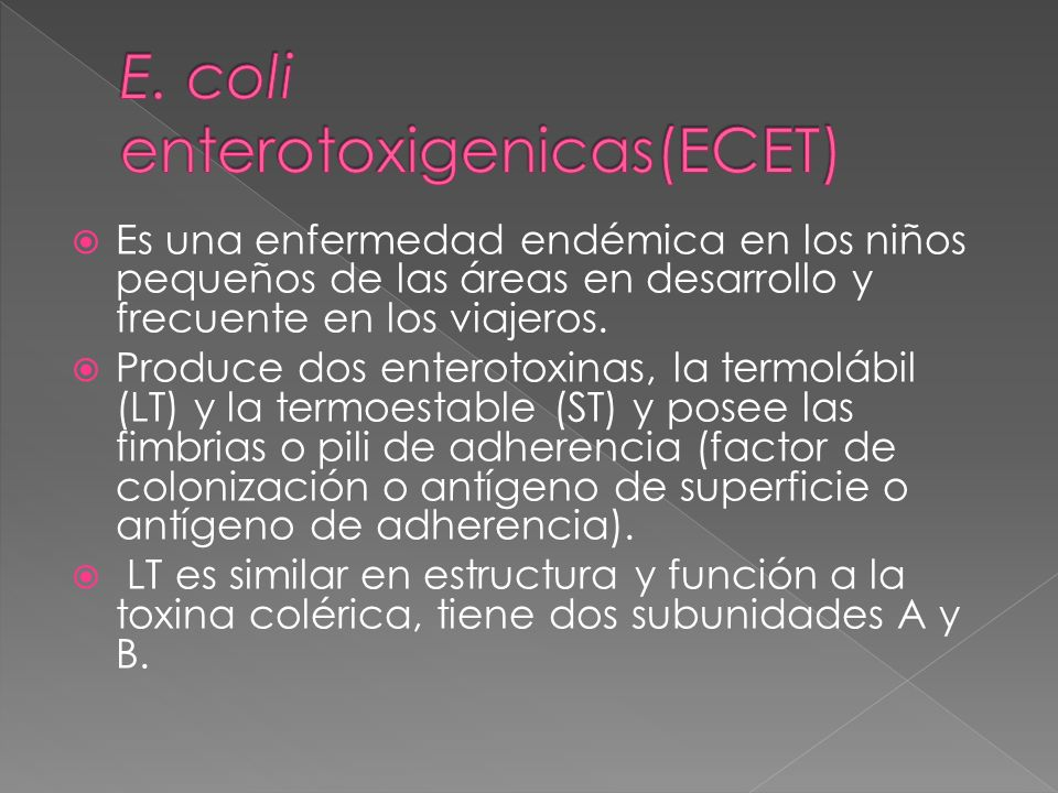 E. coli enterotoxigenicas(ECET)