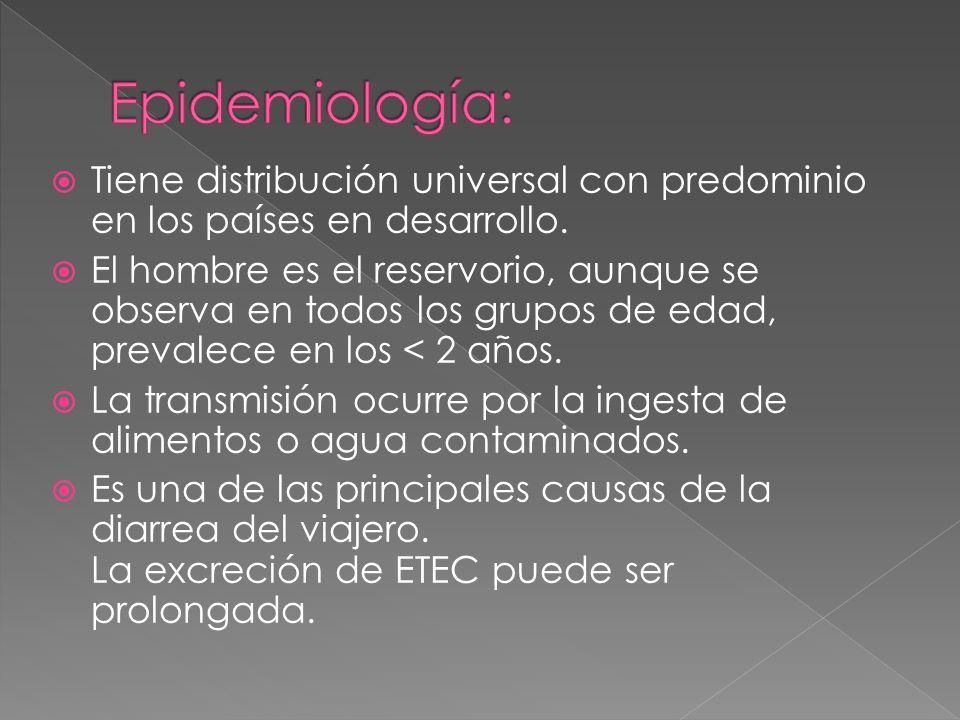 Epidemiología: Tiene distribución universal con predominio en los países en desarrollo.