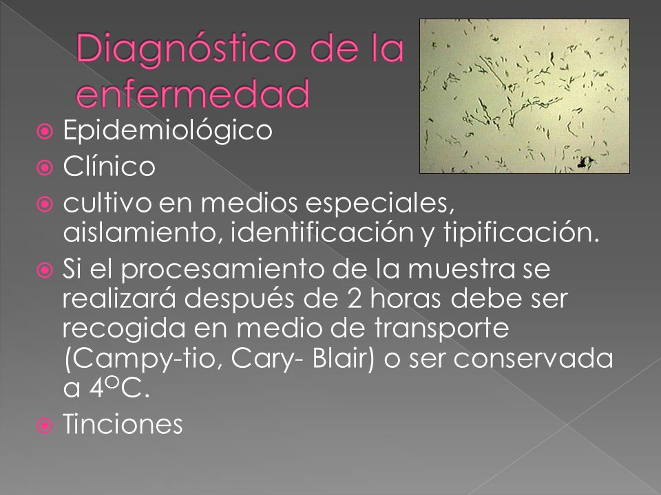 Diagnóstico de la enfermedad