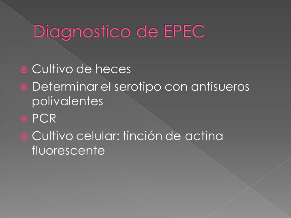Diagnostico de EPEC Cultivo de heces