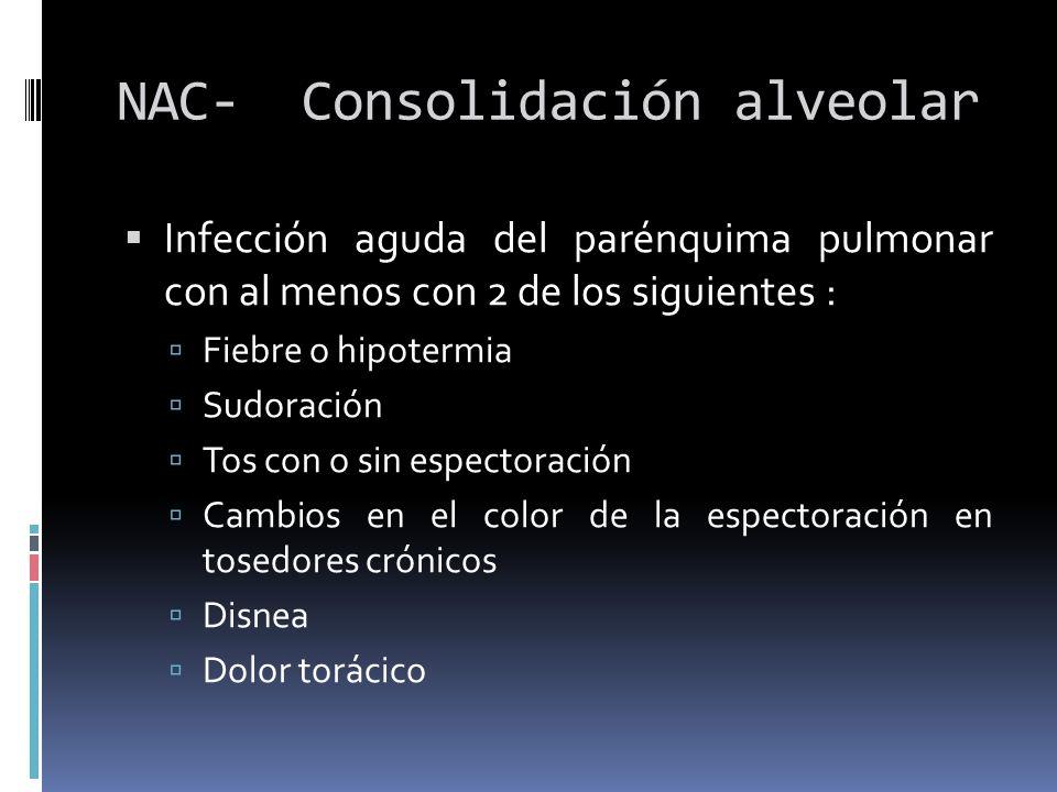 NAC- Consolidación alveolar