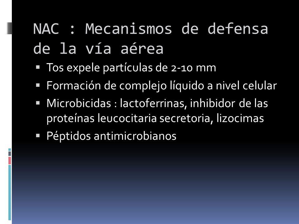 NAC : Mecanismos de defensa de la vía aérea