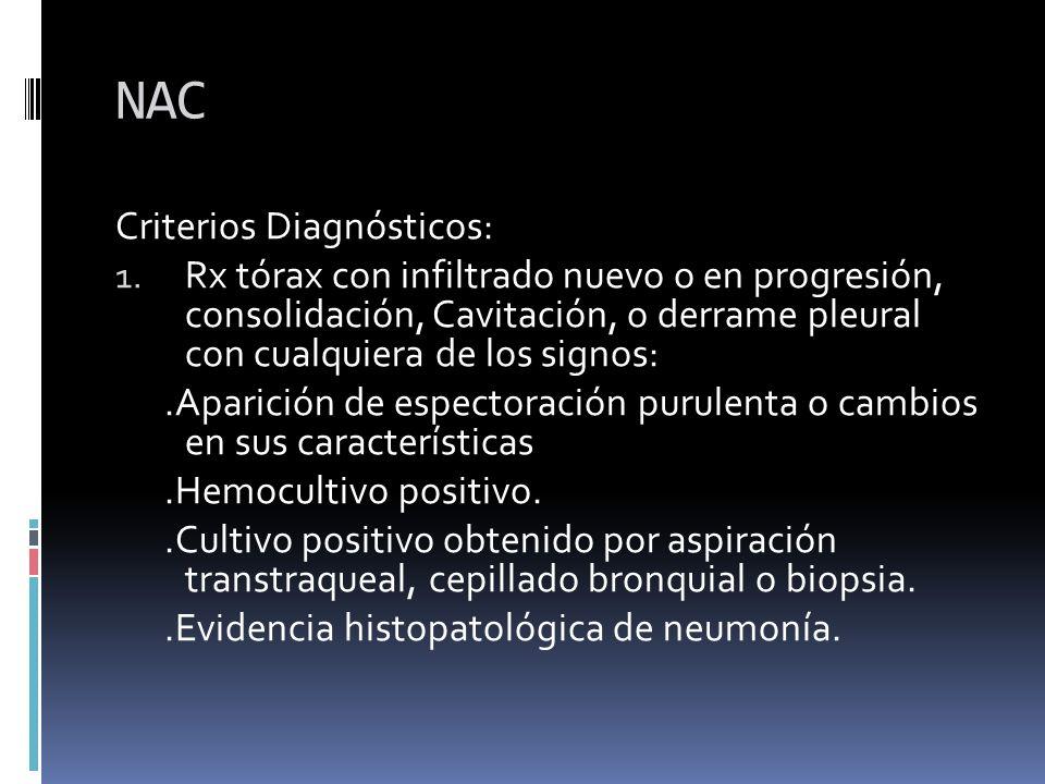 NAC Criterios Diagnósticos: