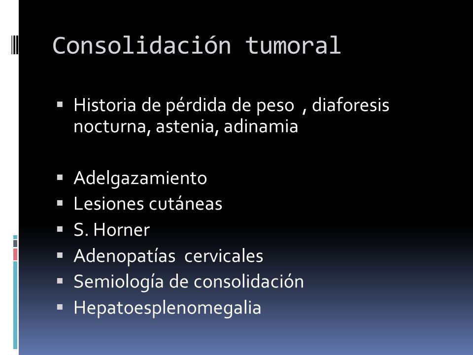 Consolidación tumoral