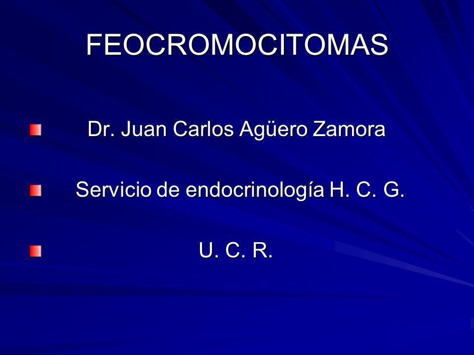 FEOCROMOCITOMAS Dr. Juan Carlos Agüero Zamora