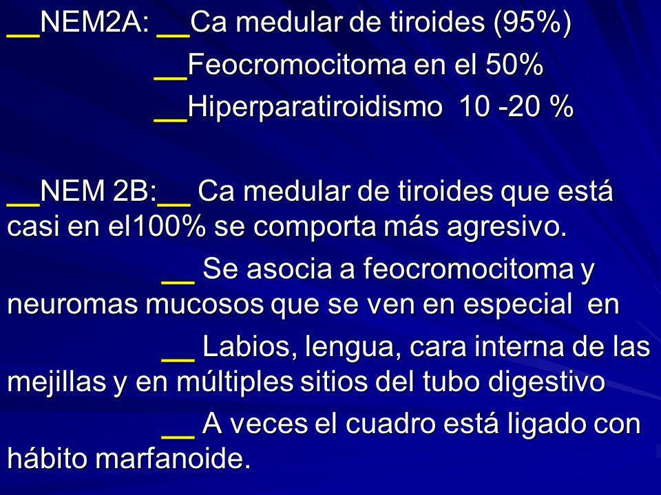 __NEM2A: __Ca medular de tiroides (95%)