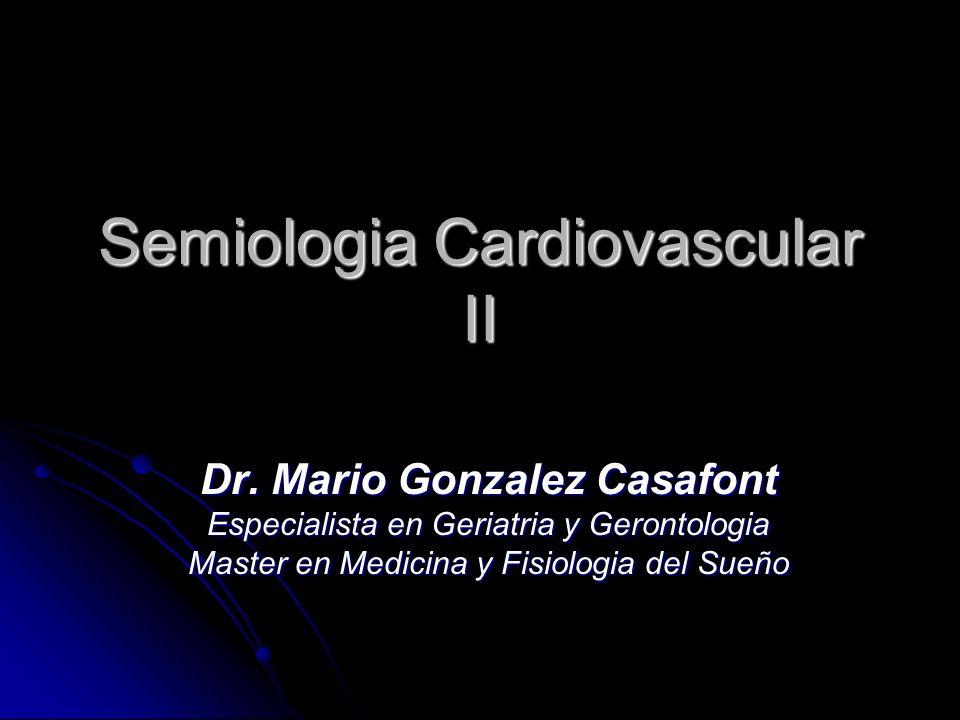 Semiologia Cardiovascular II