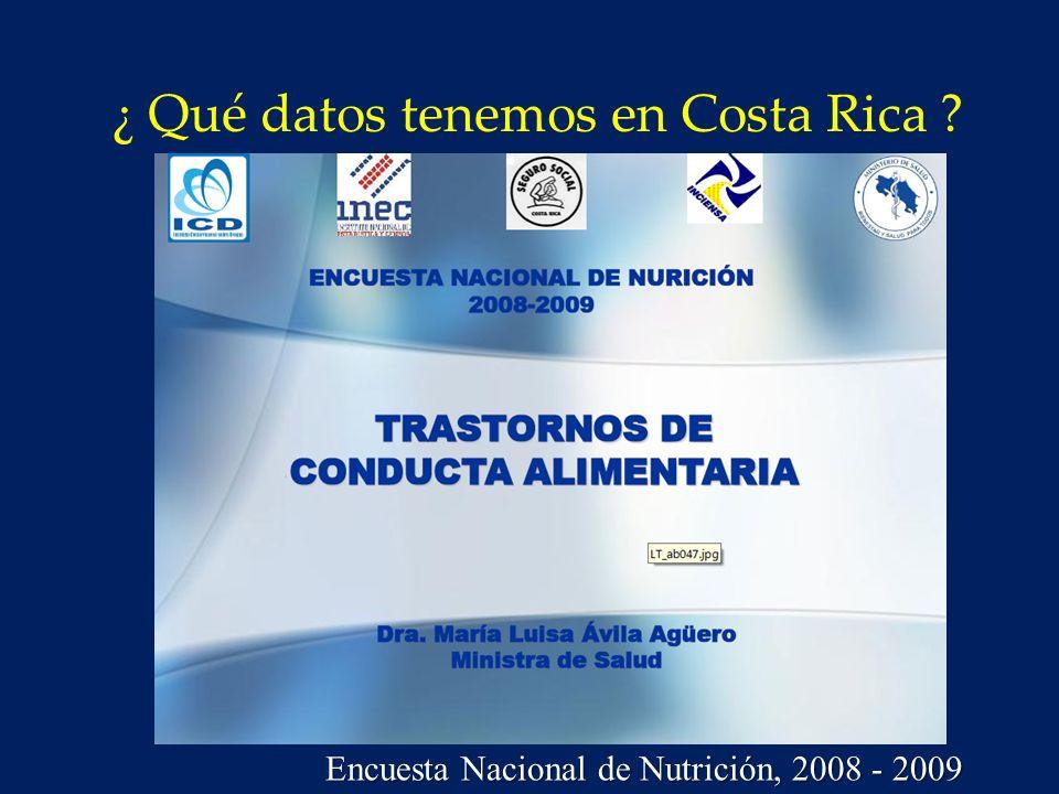 ¿ Qué datos tenemos en Costa Rica