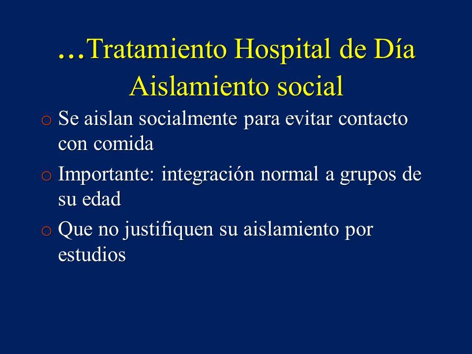 ...Tratamiento Hospital de Día Aislamiento social