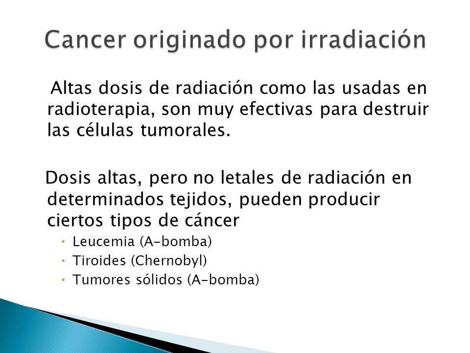 Cancer originado por irradiación