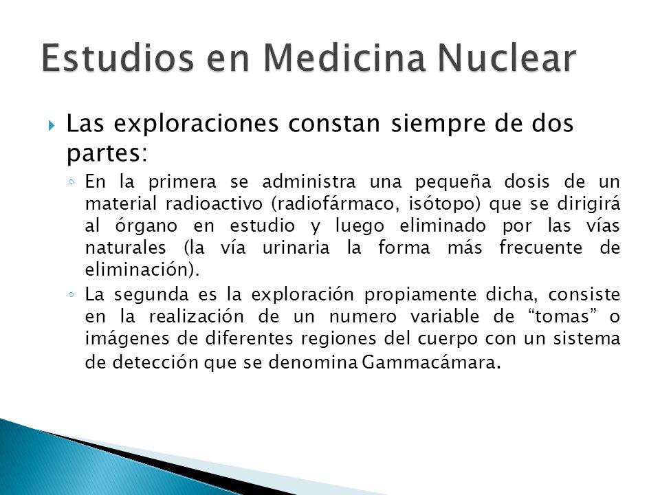 Estudios en Medicina Nuclear