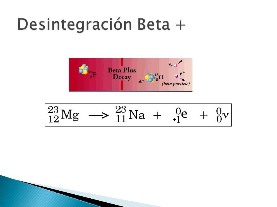 Desintegración Beta +
