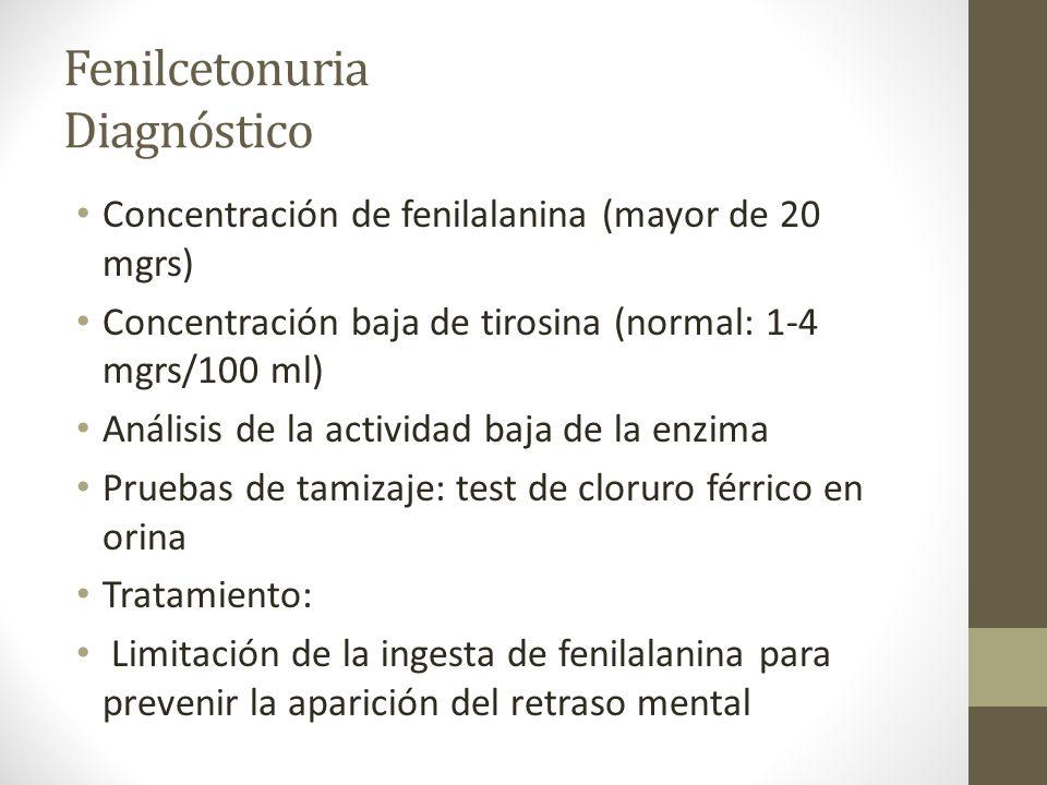Fenilcetonuria Diagnóstico