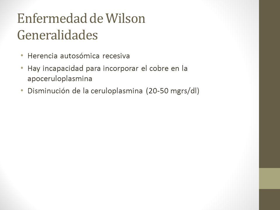 Enfermedad de Wilson Generalidades