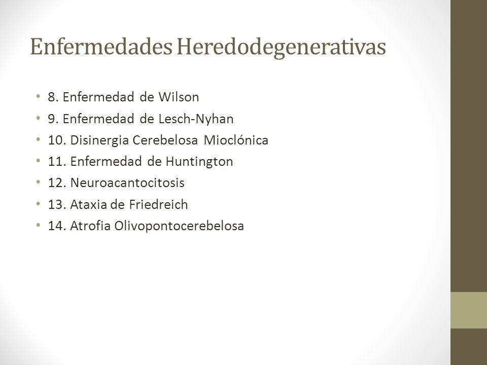 Enfermedades Heredodegenerativas