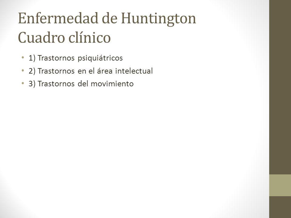 Enfermedad de Huntington Cuadro clínico