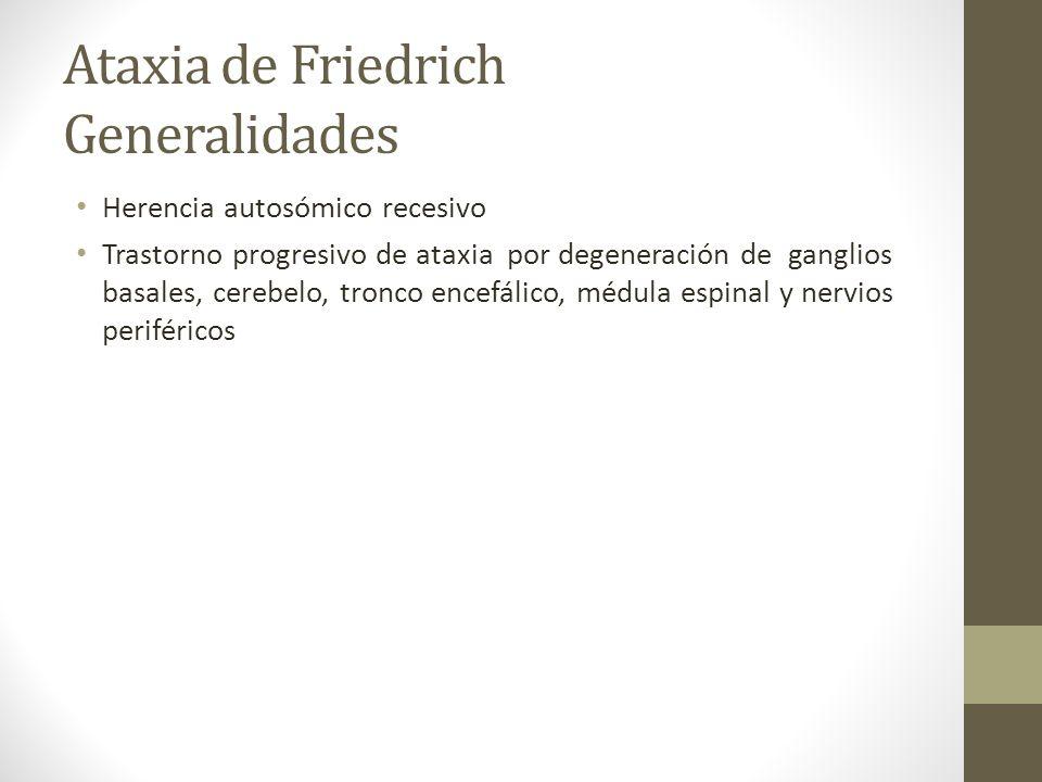 Ataxia de Friedrich Generalidades