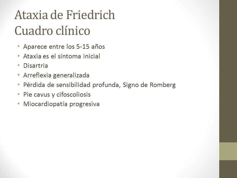 Ataxia de Friedrich Cuadro clínico