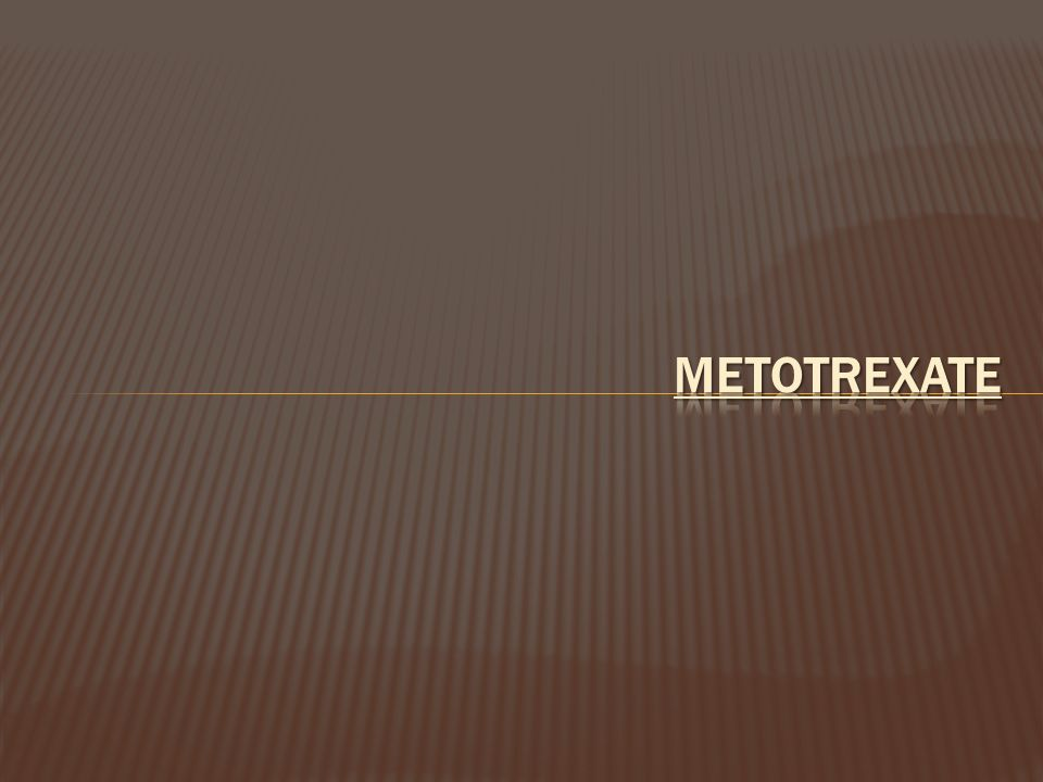 METOTREXATE