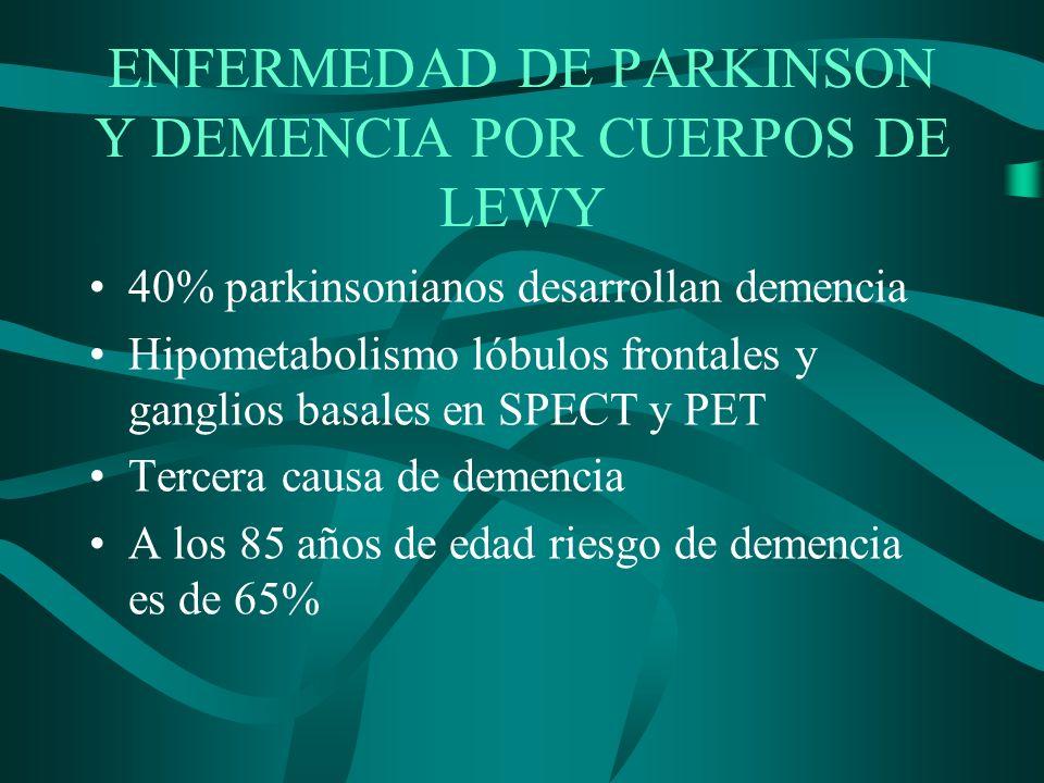 ENFERMEDAD DE PARKINSON Y DEMENCIA POR CUERPOS DE LEWY