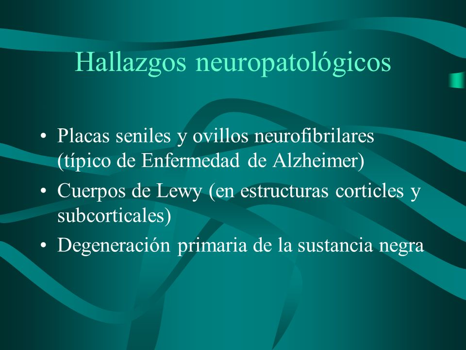 Hallazgos neuropatológicos