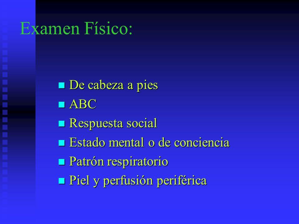 Examen Físico: De cabeza a pies ABC Respuesta social