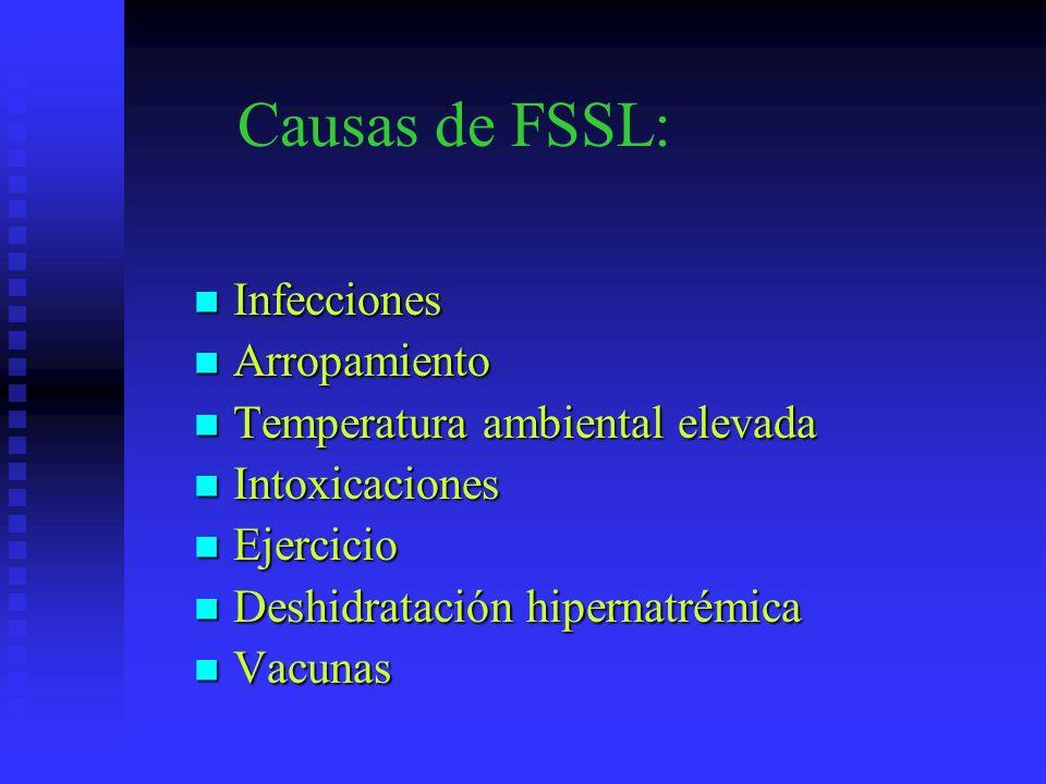Causas de FSSL: Infecciones Arropamiento Temperatura ambiental elevada