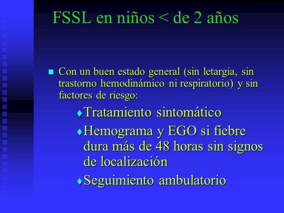 FSSL en niños < de 2 años