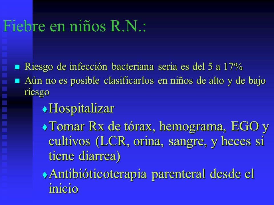 Fiebre en niños R.N.: Hospitalizar