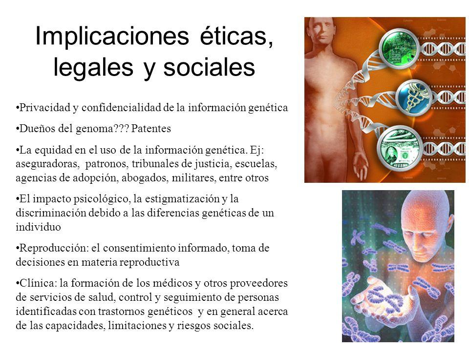 Implicaciones éticas, legales y sociales