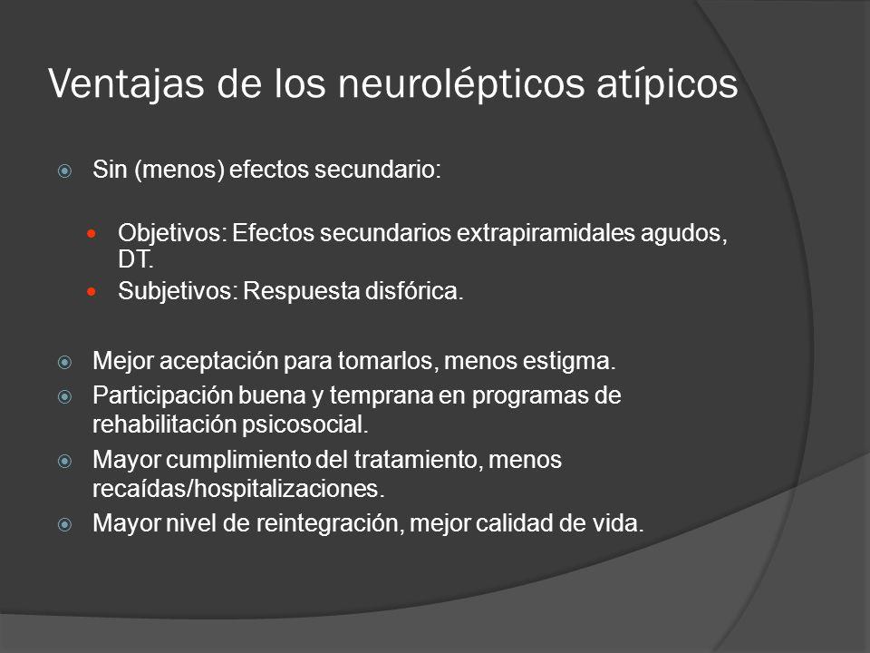 Ventajas de los neurolépticos atípicos