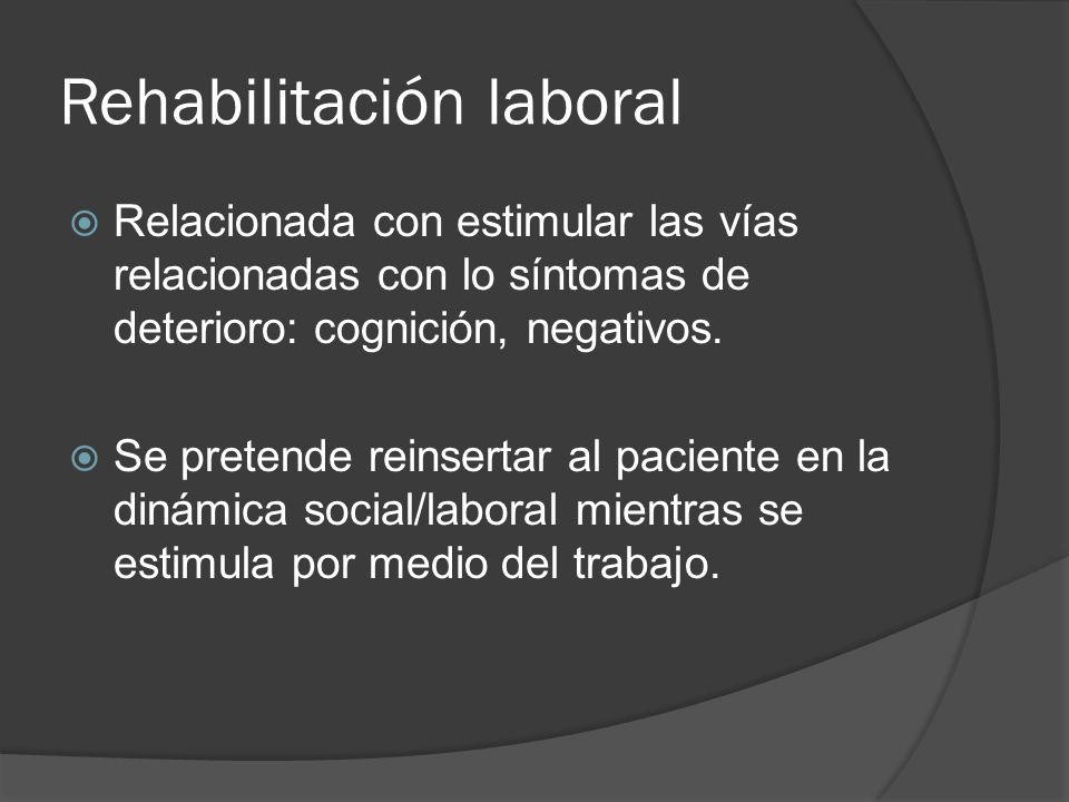 Rehabilitación laboral