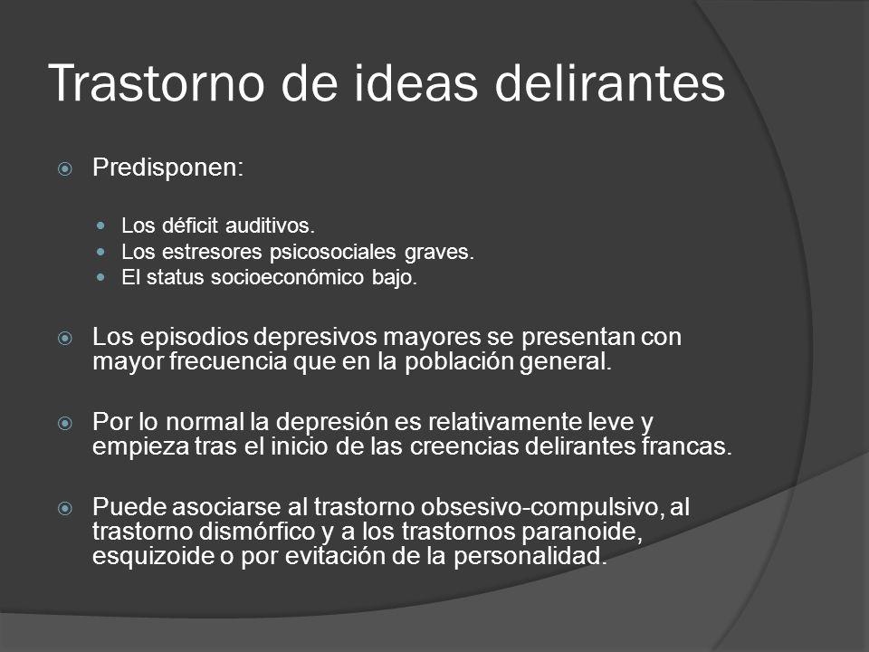 Trastorno de ideas delirantes