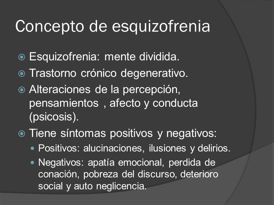 Concepto de esquizofrenia