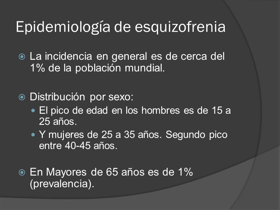Epidemiología de esquizofrenia