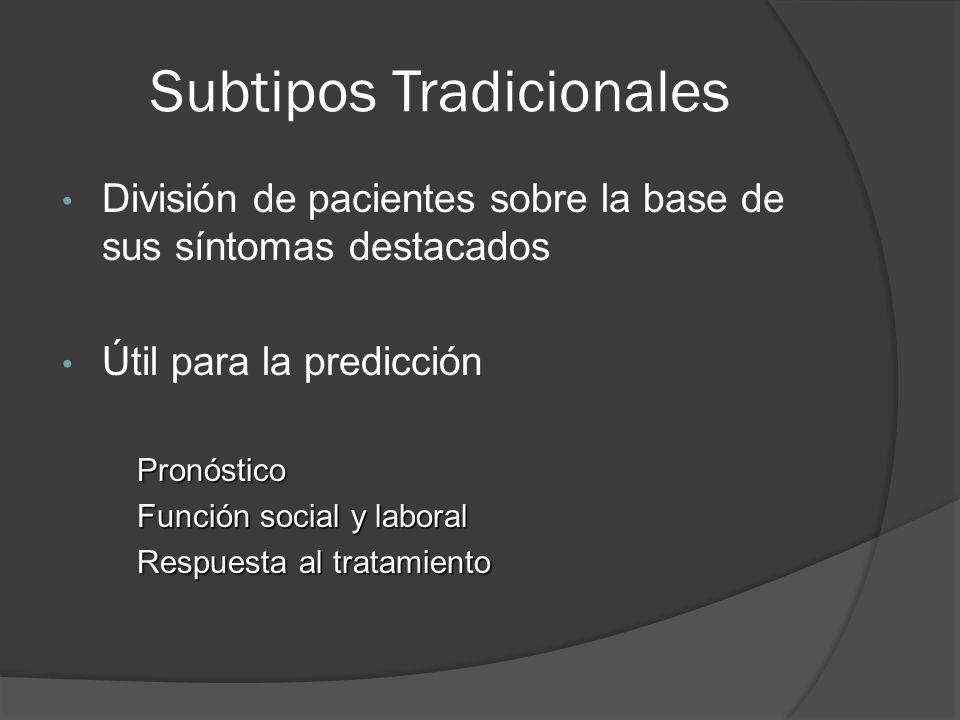 Subtipos Tradicionales