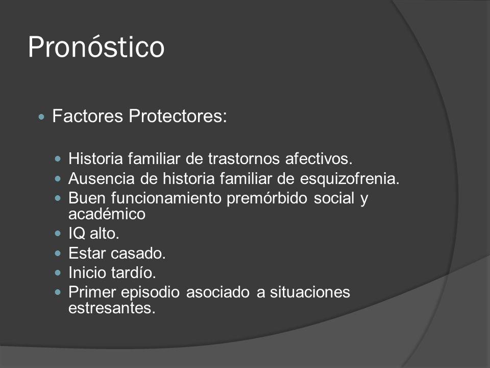Pronóstico Factores Protectores: