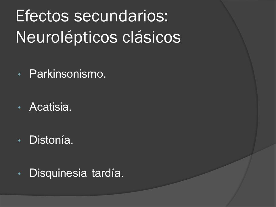 Efectos secundarios: Neurolépticos clásicos
