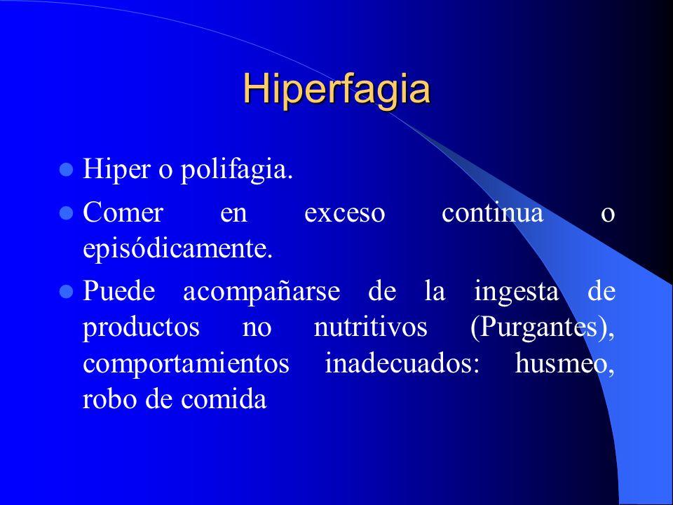 Hiperfagia Hiper o polifagia.