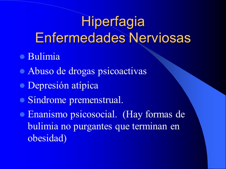 Hiperfagia Enfermedades Nerviosas