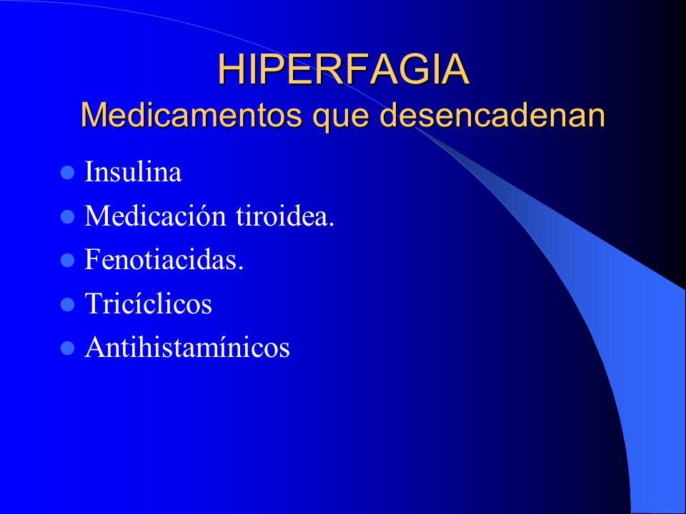 HIPERFAGIA Medicamentos que desencadenan