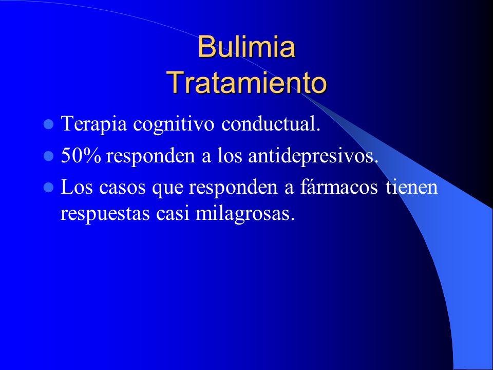 Bulimia Tratamiento Terapia cognitivo conductual.