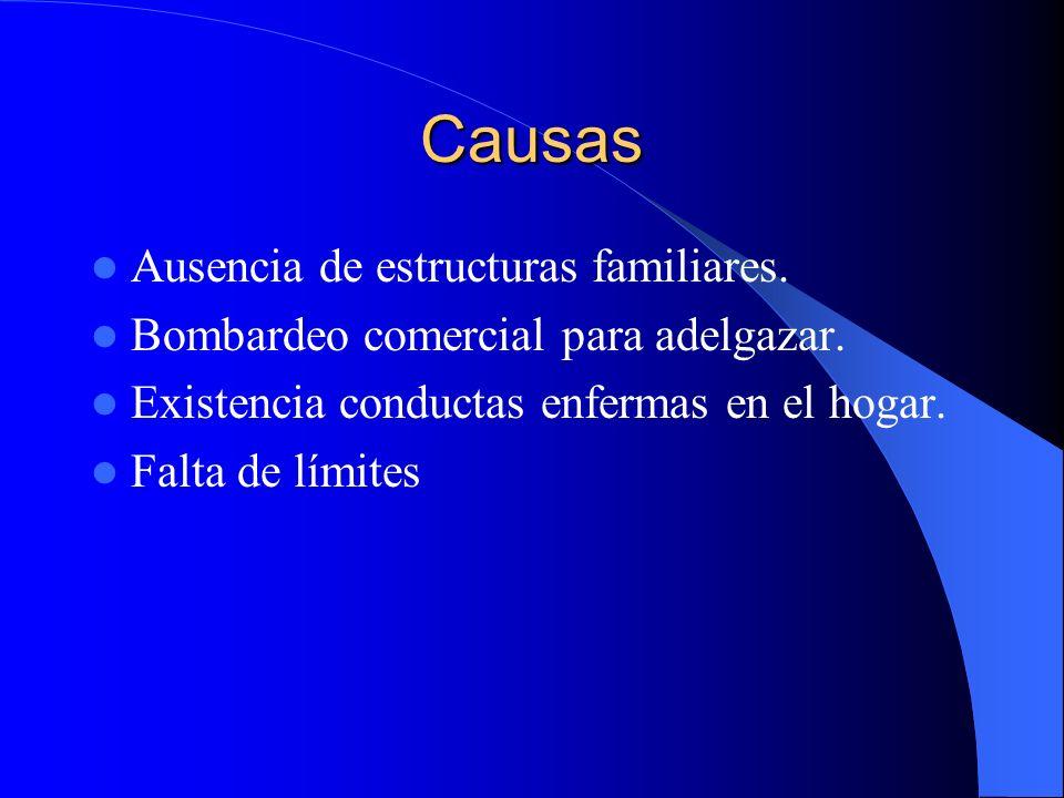 Causas Ausencia de estructuras familiares.