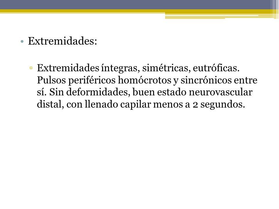 Extremidades: