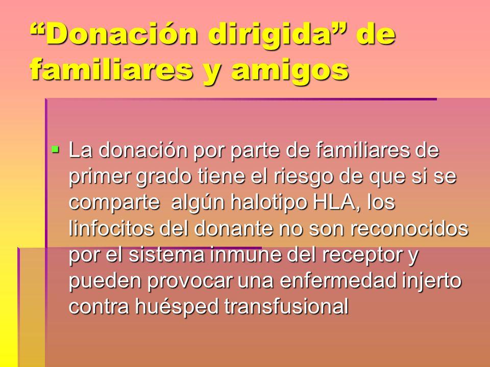 Donación dirigida de familiares y amigos