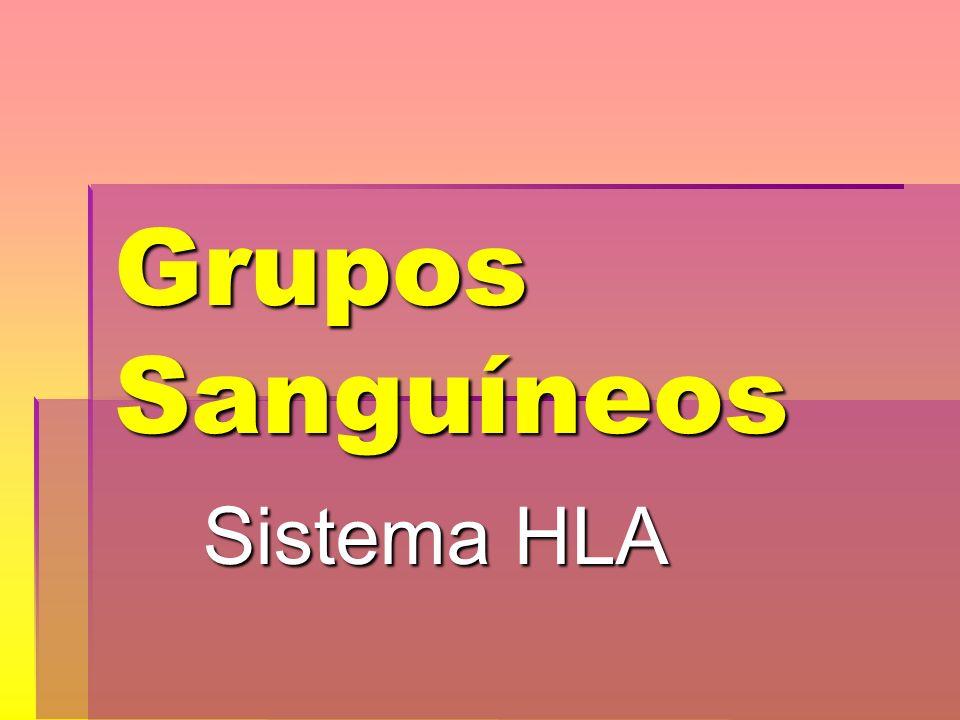 Grupos Sanguíneos Sistema HLA