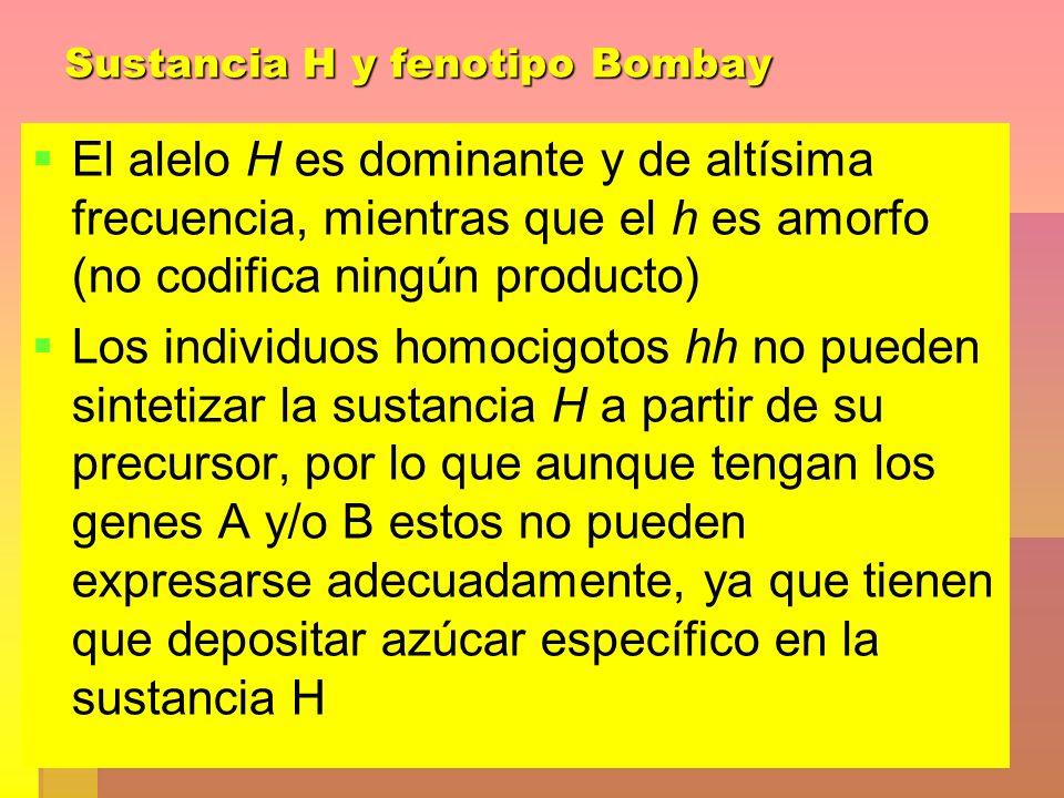Sustancia H y fenotipo Bombay