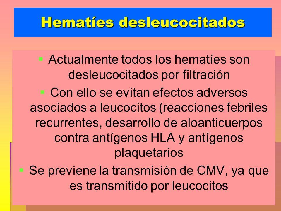 Hematíes desleucocitados