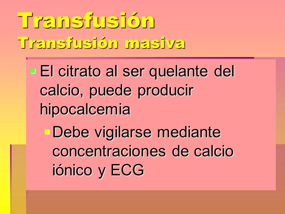 Transfusión Transfusión masiva