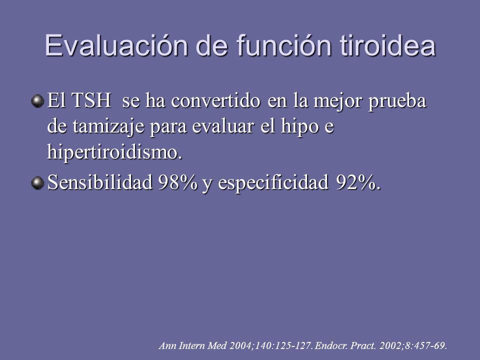 Evaluación de función tiroidea